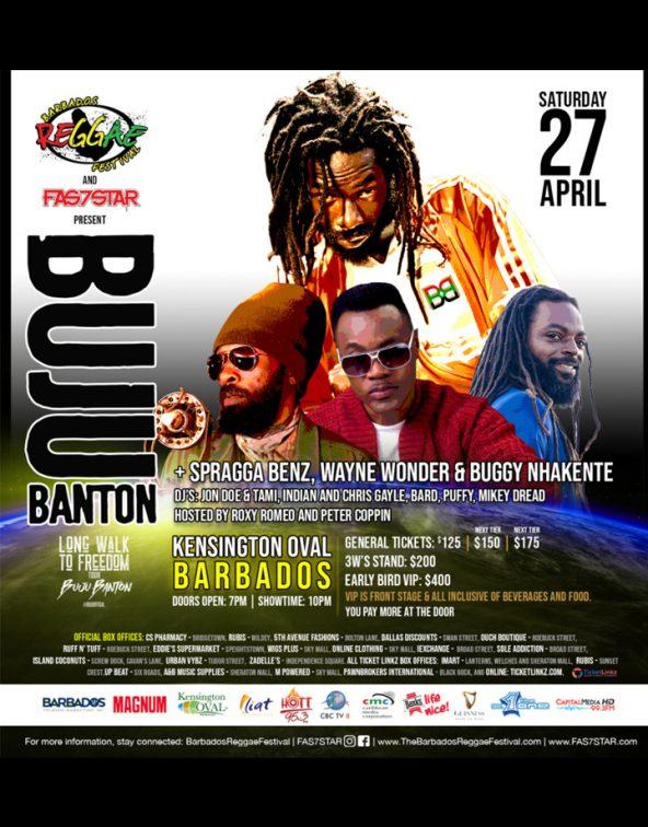 Barbados Reggae Festival featuring Buju Banton